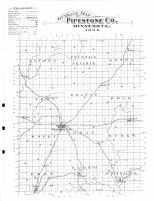 Pipestone County Outline Map, Pipestone County 1898