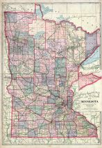 Minnesota State Map, Polk County 1915