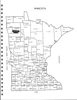 Minnesota State Map, Red Lake County 1998