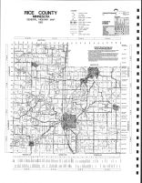Rice County Highway Map, Rice County 1984