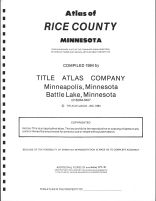 Title Page, Rice County 1984