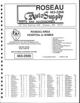 Jadis Township Owners Directory, Ad - Roseau Auto Supply, Roseau Area Hospital and Homes, Roseau County 1991