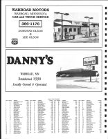 Lake Township Owners Directory, Ad - Warroad Motors, Danny's, Roseau County 1991