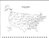 United States Map, Roseau County 1991
