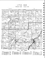 Little Sauk Township, Long Bridge Lake, Cedar, Jurgens, Maple, Mud, Todd County 1947