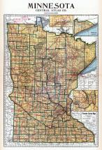 Minnesota State Map, Waseca County 1937