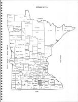 Minnesota State Map, Waseca County 1970