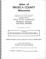Title Page, Waseca County 1970