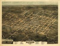 Raleigh 1872 Bird's Eye View 17x22, Raleigh 1872 Bird's Eye View
