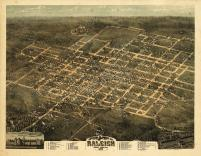 Raleigh 1872 Bird's Eye View 24x30, Raleigh 1872 Bird's Eye View