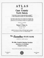 Title Page, Cass County 1957