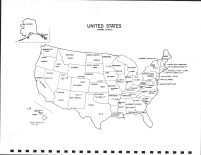United State Map, Sargent County 1973
