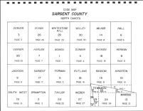 Sargent County Code Map, Sargent County 1981