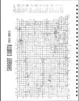 Sargent County Map, Sargent County 1981