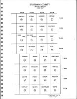 Stutsman County Code Map - East, Stutsman County 1967