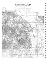 North Loup Township Topographical Map, Valley County 1926