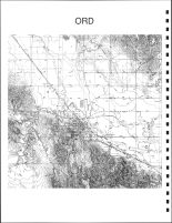 Ord Township Topographical Map, Valley County 1926