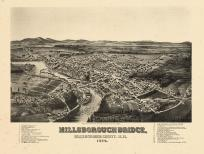 Hillsborough 1884 Bird's Eye View 17x22, Hillsborough 1884 Bird's Eye View