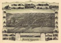 Atlantic Highlands 1894 Bird's Eye View 17x23, Atlantic Highlands 1894 Bird's Eye View