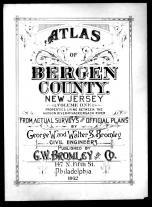 Title Page, Bergen County 1912 Vol 1