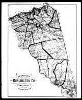 Burlington County Outline Map, Burlington County 1876