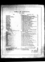 Table of Contents, Burlington County 1876