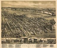 Hoboken 1881 Bird's Eye View 17x19, Hoboken 1881 Bird's Eye View