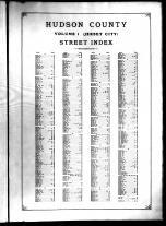 Index - Street, Hudson County 1908 Vol 1 Comprising Jersey City