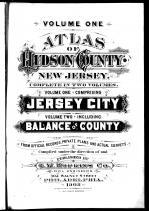Title Page, Hudson County 1908 Vol 1 Comprising Jersey City