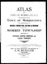 Title Page, Morris County 1910