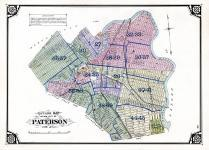 Index Map - Paterson City Outline Map, Passaic County 1877