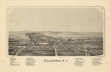 Caledonia 1892 Bird's Eye View 17x25, Caledonia 1892 Bird's Eye View