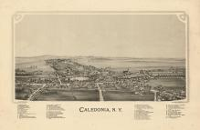 Caledonia 1892 Bird's Eye View 24x35, Caledonia 1892 Bird's Eye View