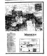 Mooers, Mooers Forks, Mooers Village, Woods Falls, Thorns Corners - Right, Clinton County 1869 Microfilm