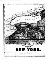 New York State Map - Left, Clinton County 1869 Microfilm