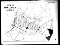 Hudson City Map, Columbia County 1888
