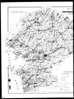 Index Map of Watertown City - Table of Contents - County Outline Map - Left Page, Jefferson County 1888