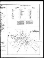 Index Map of Watertown City - Table of Contents - County Outline Map - Right Page, Jefferson County 1888