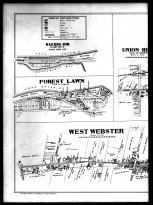 Plate 030 Left - Webster, West Webster, Union Hill, Forest Lawn, Bakers Sub, Monroe County 1902