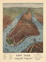 New York City 1879 Bird's Eye View Published by Williams 17x22, New York City 1879 Bird's Eye View Published by Williams
