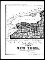 New York State Map Left, Warren County 1876