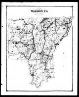 Warren County Outline Map, Warren County 1876