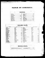 Table of Contents, Westchester County 1872