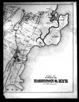 Harrison and Rye Townships, Harrison P.O. and Milton Right, Westchester County 1881
