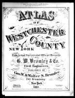 Title Page, Westchester County 1881
