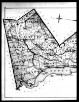 Westchester County Outline Map Left, Westchester County 1881