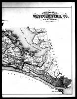 Westchester County Outline Map Right, Westchester County 1881