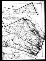Westchester County Outline Map Right, Westchester County 1901