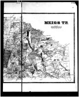 Meigs Township, Newport, Jacksonville, Mineral Springs - Right, Adams County 1880