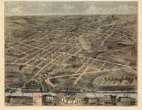 Akron 1870 Bird's Eye View 24x30, Akron 1870 Bird's Eye View
